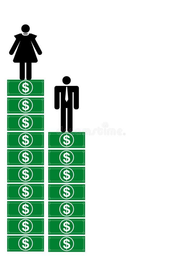 做货币更多妇女 皇族释放例证