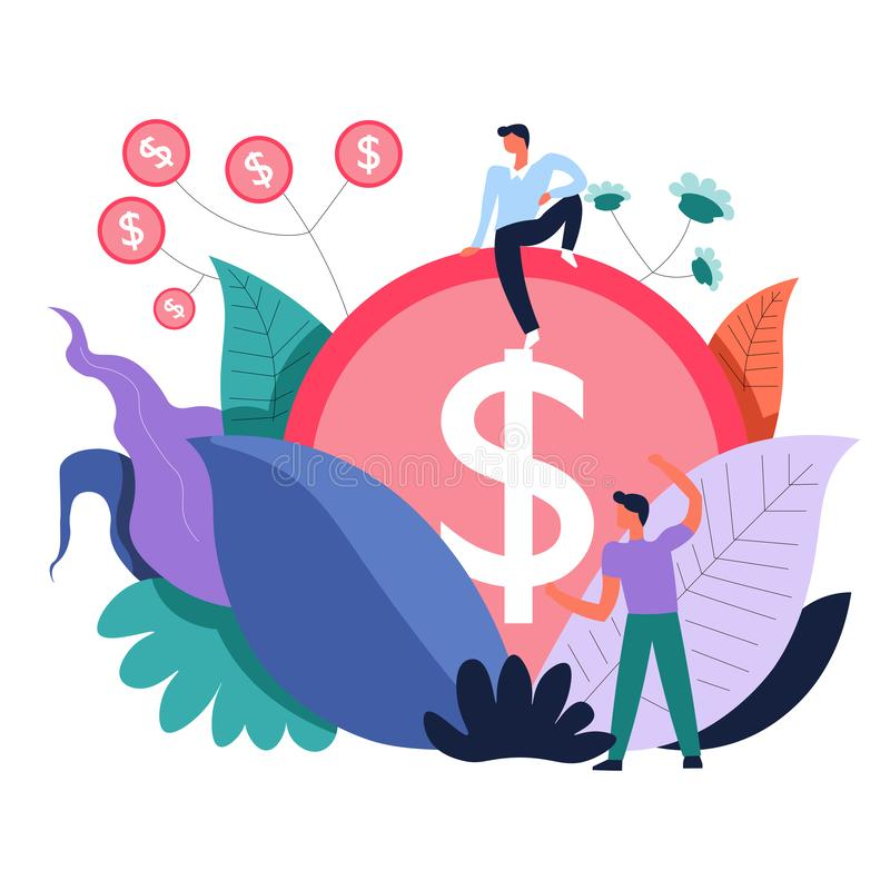 做金钱和投资活动的事务人传染媒介 向量例证