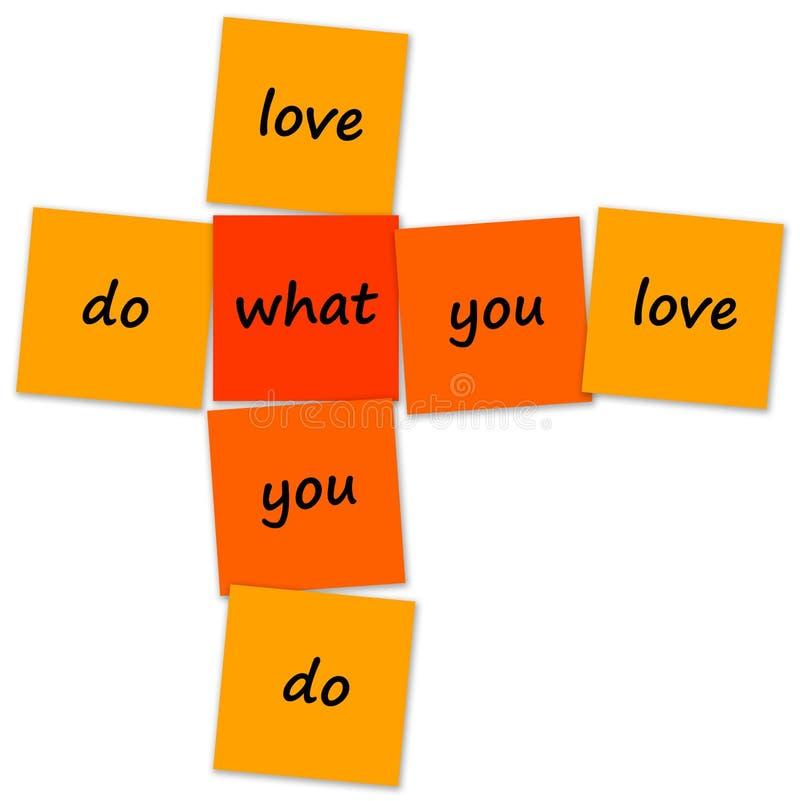 做什么您爱 向量例证
