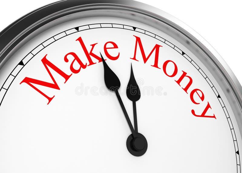 做货币时间 库存例证