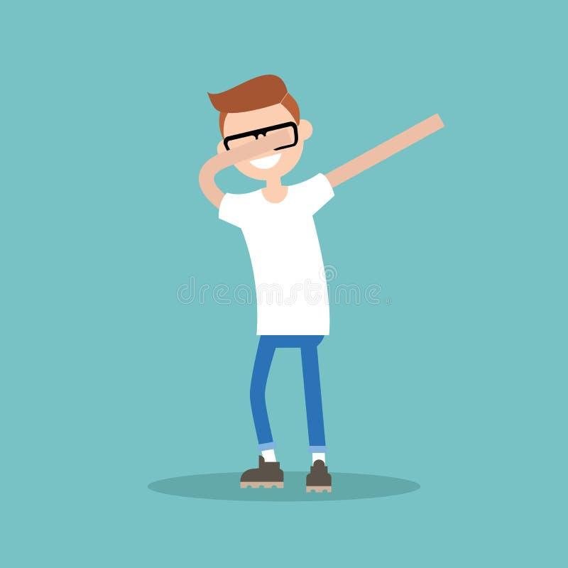 做轻拍舞蹈平的illustra的年轻字符 皇族释放例证