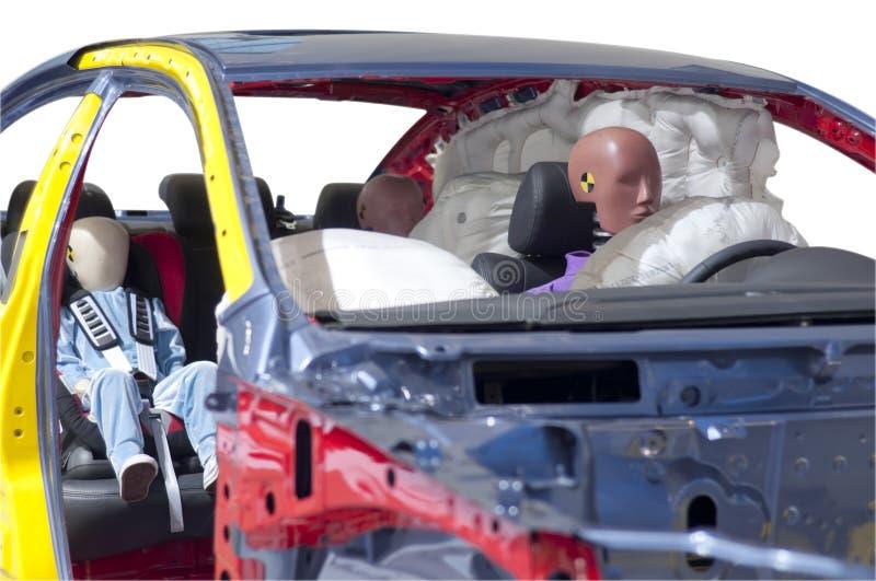 做崩溃测试的车 免版税库存图片
