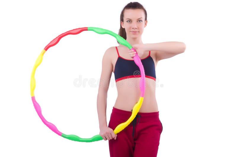 做锻炼的妇女 库存照片