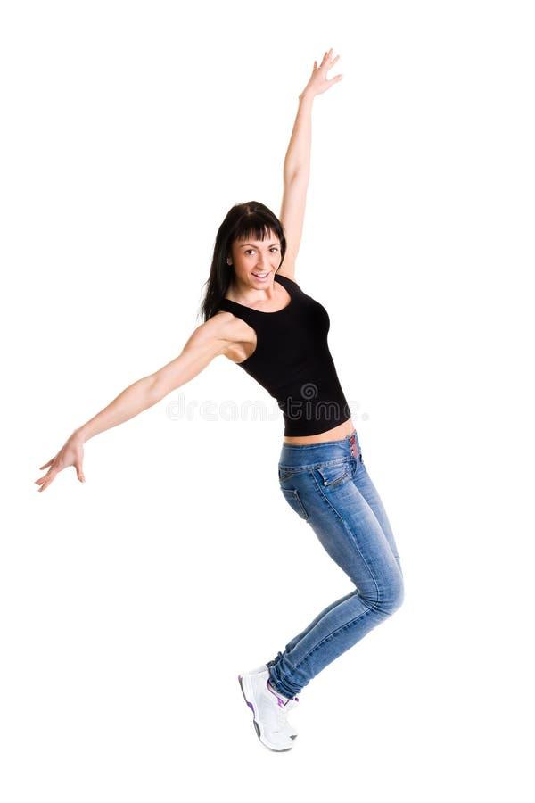 做锻炼的美丽的运动的妇女 免版税库存图片