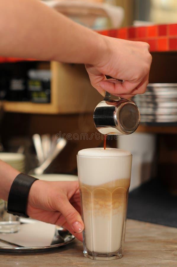 Latte macchiato 免版税库存照片