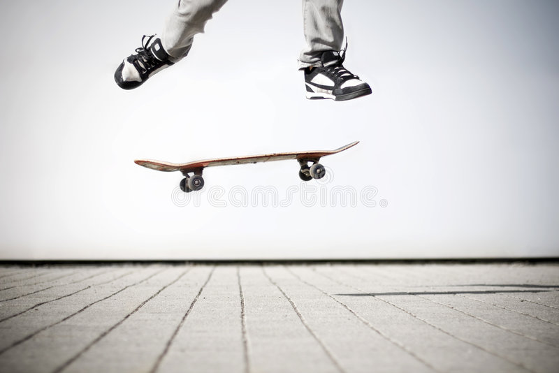 做olli溜冰者 库存图片