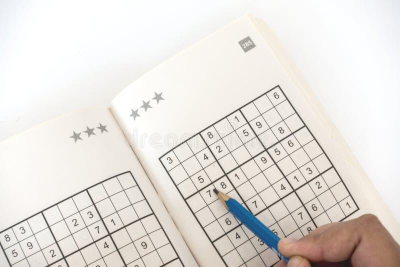 做sudoku 免版税库存图片