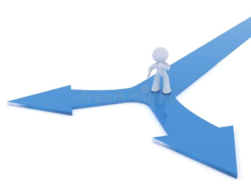 做y的决策连接点 向量例证