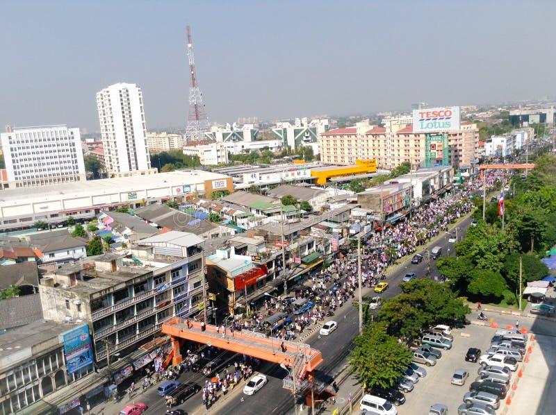 停工曼谷再开始泰国 库存照片