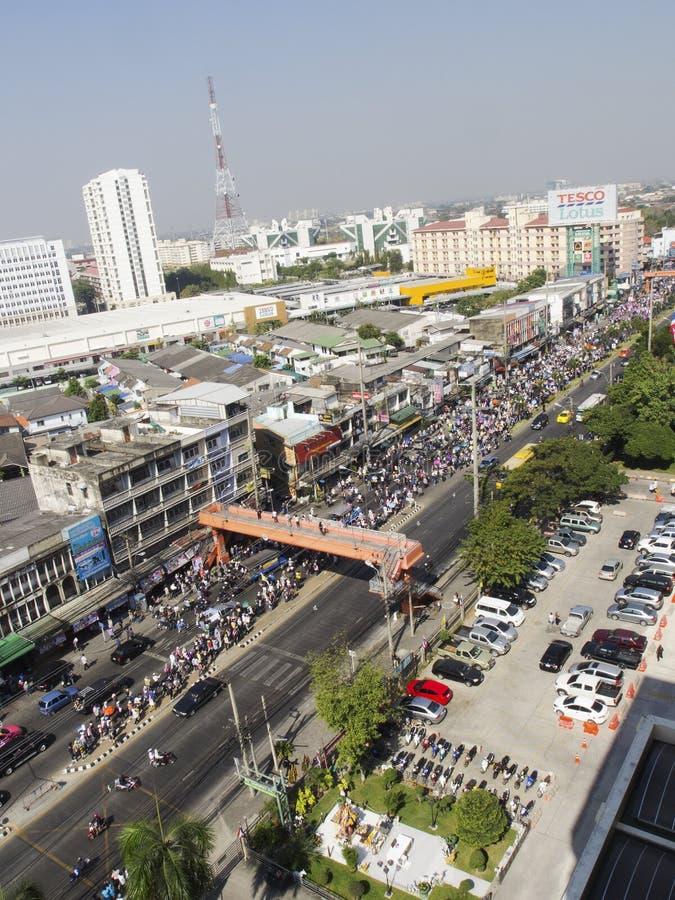 停工曼谷再开始泰国 免版税图库摄影