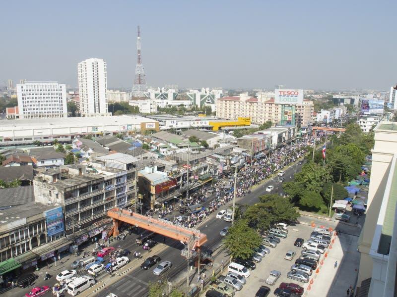 停工曼谷再开始泰国 免版税库存照片