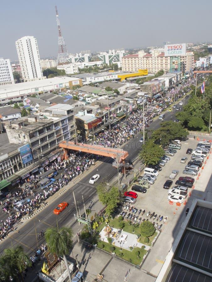 停工曼谷再开始泰国 免版税库存图片