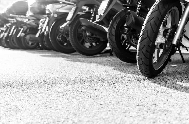 停放的小摩托车连续 库存图片