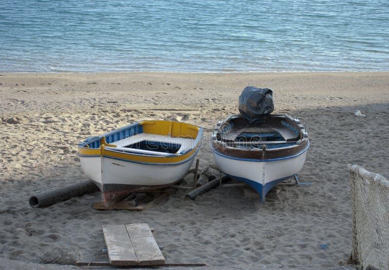 停放的小船 库存图片