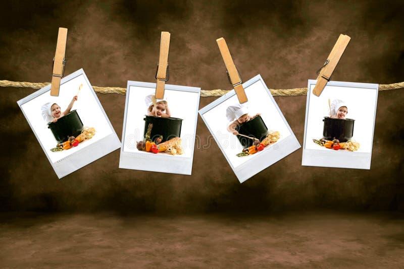 停止偏正片roo的小主厨黑暗的影片 库存图片