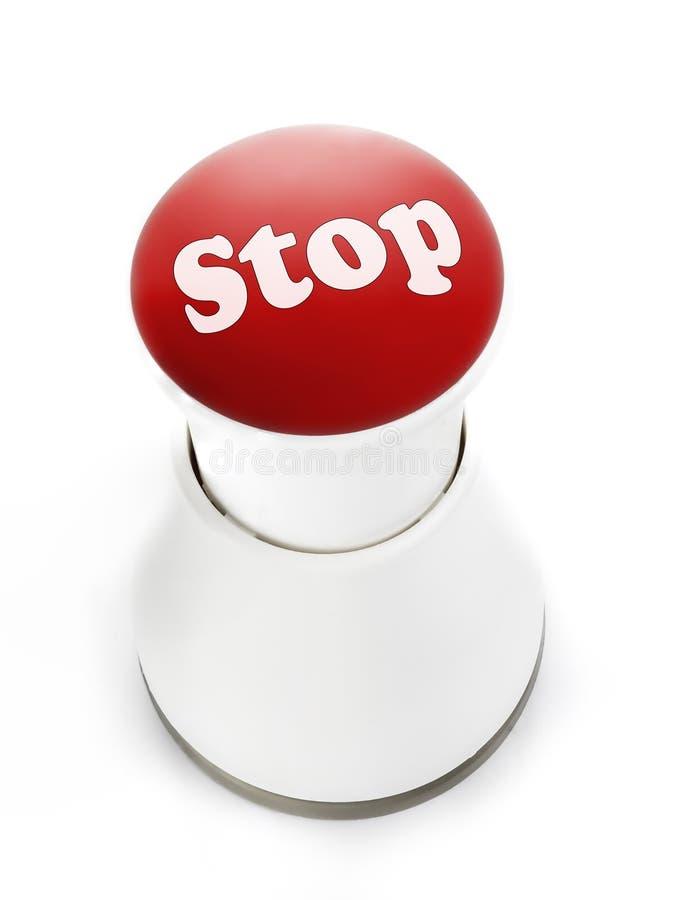停止按钮 免版税库存照片