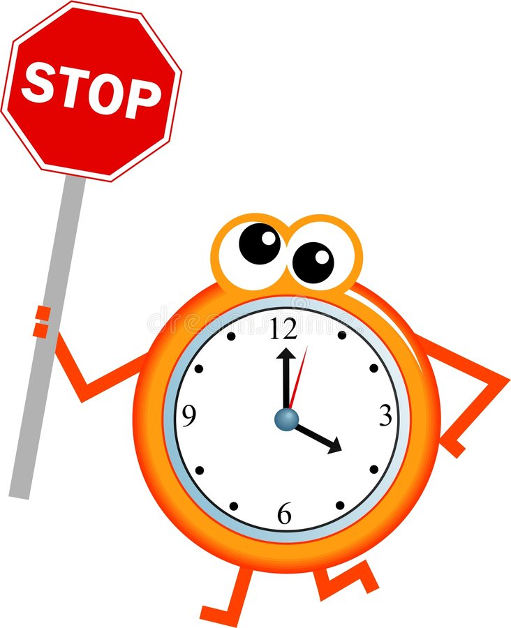 停止时间 库存例证
