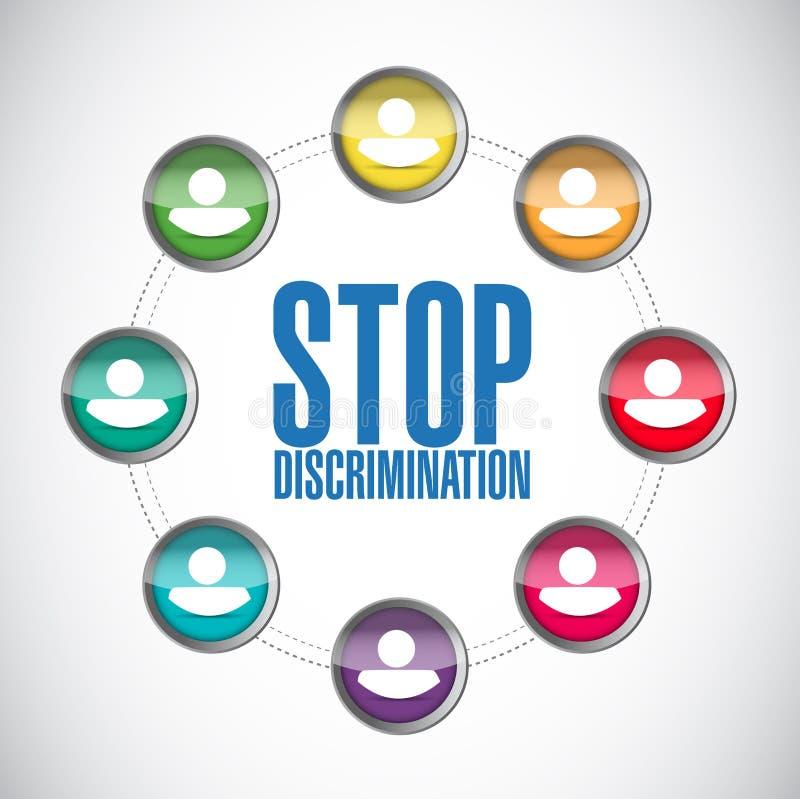 停止歧视变化人图 库存例证