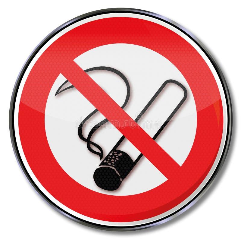 停止没有抽烟 皇族释放例证