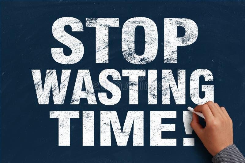 停止浪费时间 免版税图库摄影