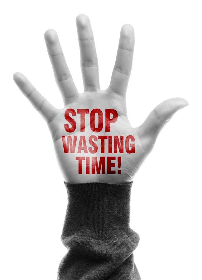 停止浪费时间 库存图片