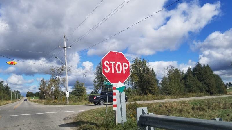 停止签到国家在秋天 库存照片