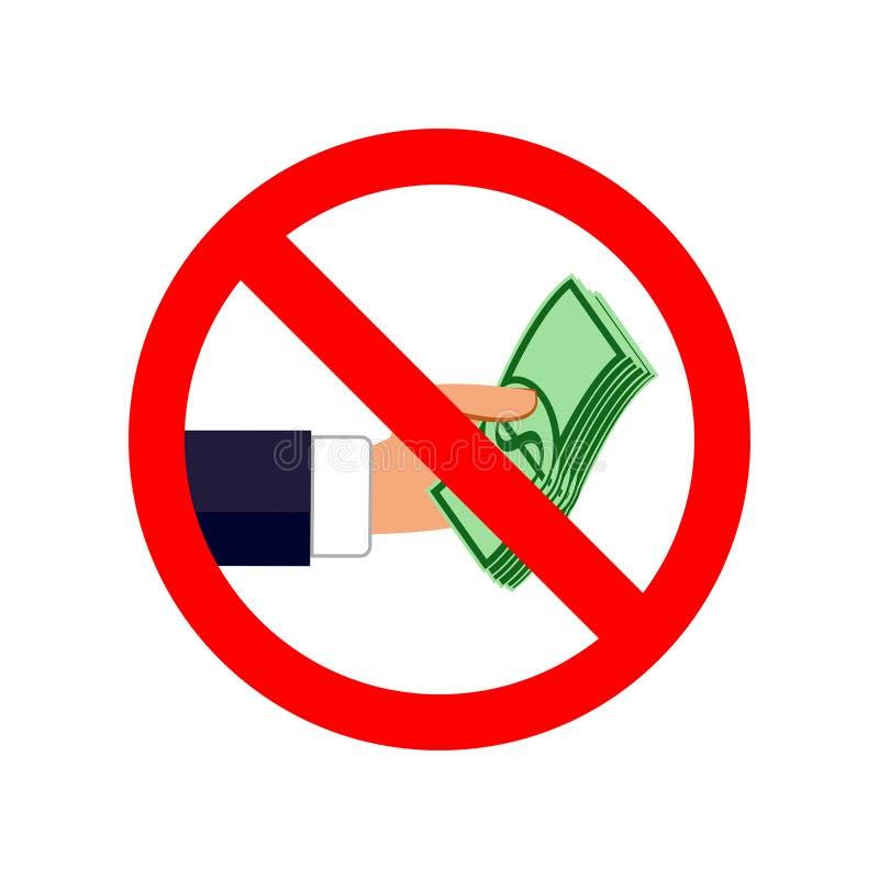 停止腐败标志 传染媒介平的例证 向量例证