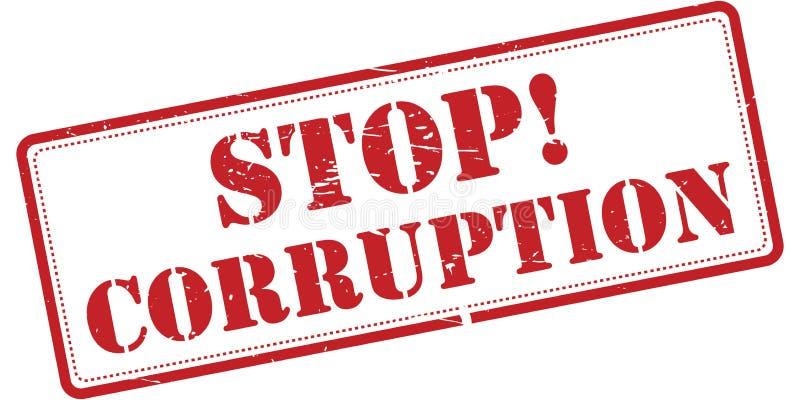 停止腐败标志 皇族释放例证