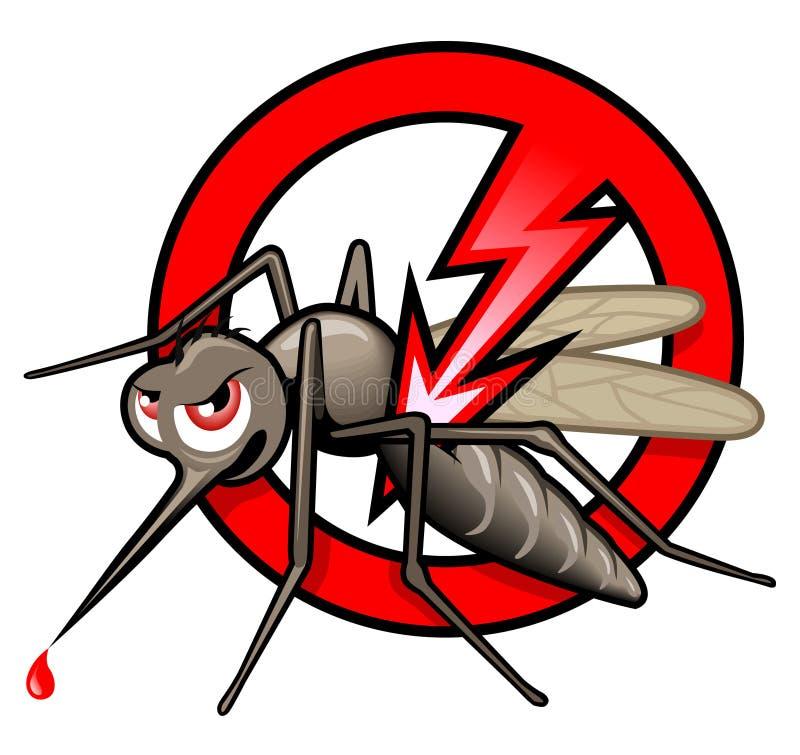 停止蚊子标签 向量例证