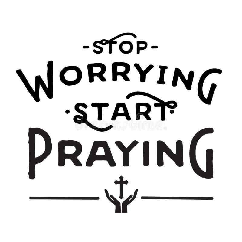 停止让起动祈祷担心 向量例证