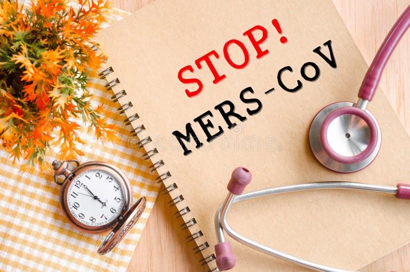 停止MERS-COV 库存图片