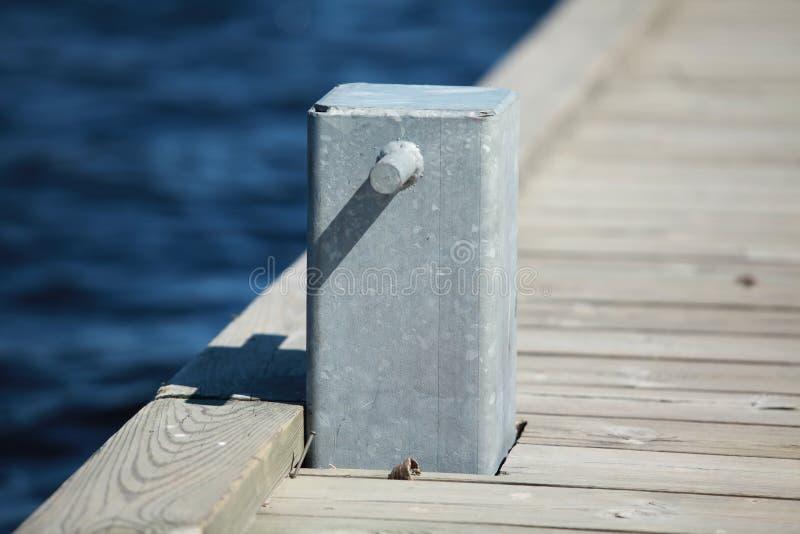 停泊的系船柱 免版税库存照片