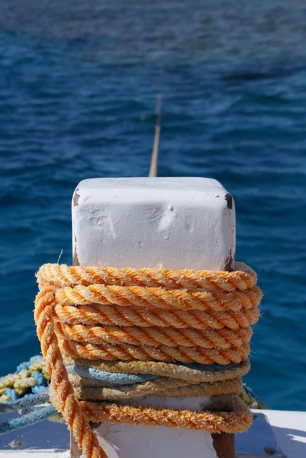 停泊系船柱 免版税库存照片