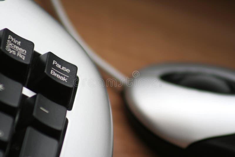 停留中断键盘键 免版税图库摄影