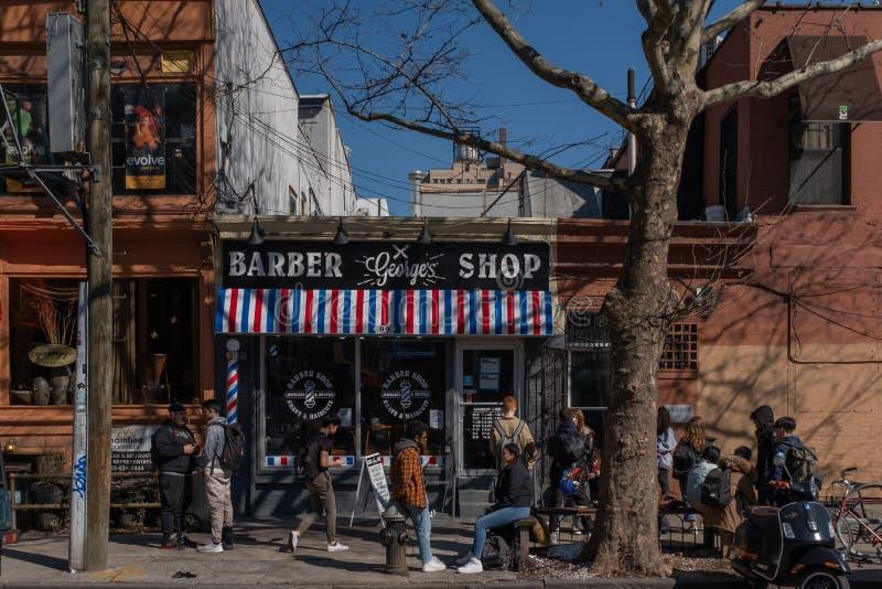 停留在布鲁克林的年轻人 免版税库存图片