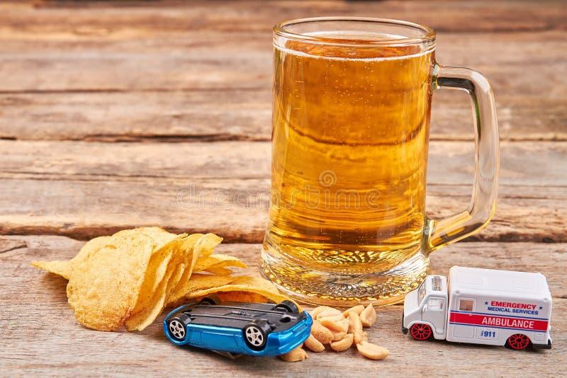 停留活,不要喝并且不要驾驶 免版税库存照片