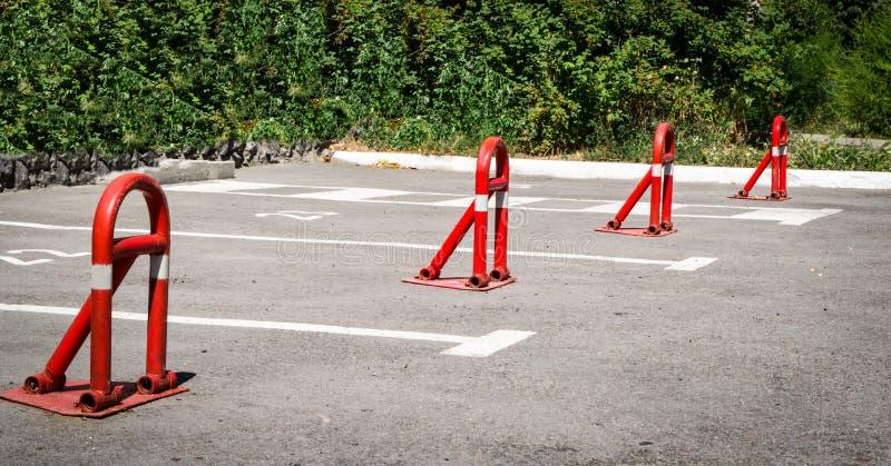 停车区域障碍 免版税库存照片