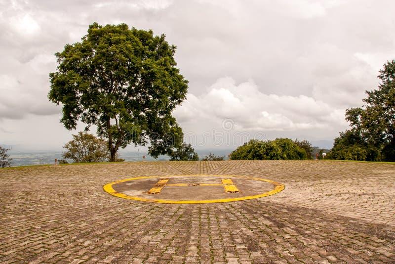 停车场直升机 库存照片