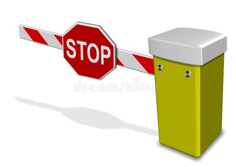 停车场障碍 向量例证