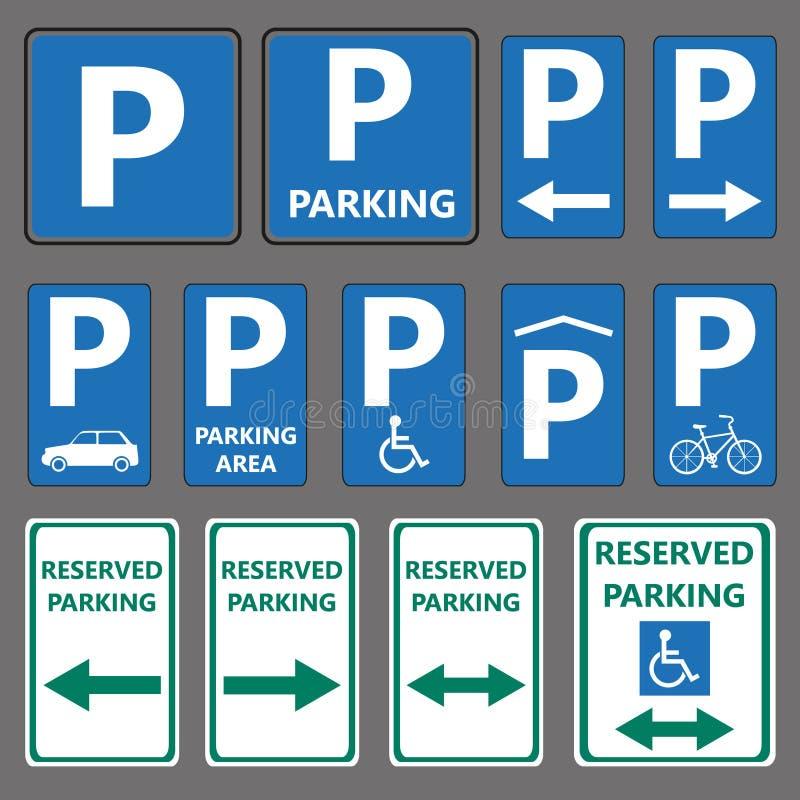 停车处标志 库存例证
