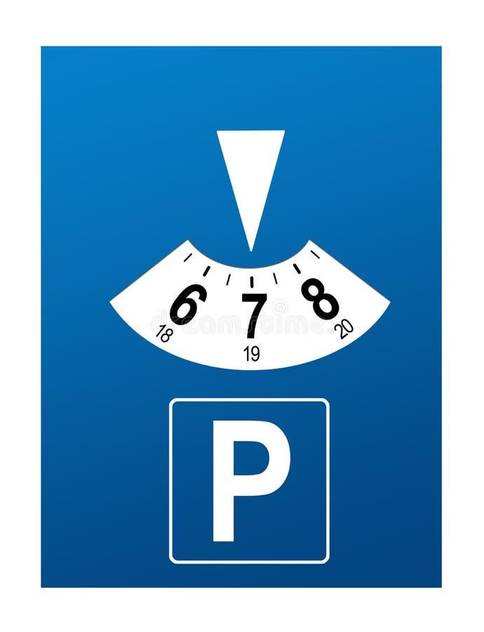 停车处盘 向量例证
