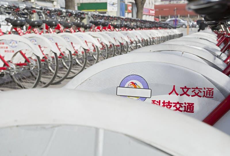 停车处自行车 免版税库存图片