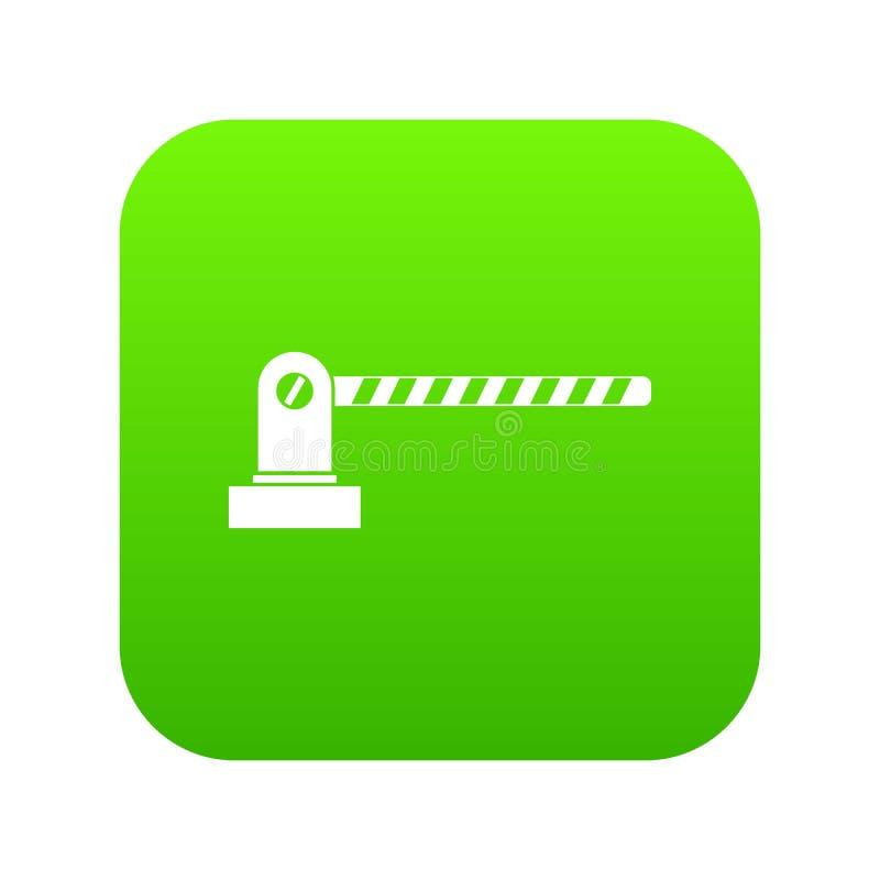 停车处障碍象数字式绿色 向量例证