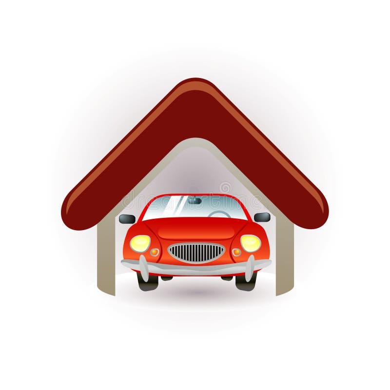 停车库图标 向量例证