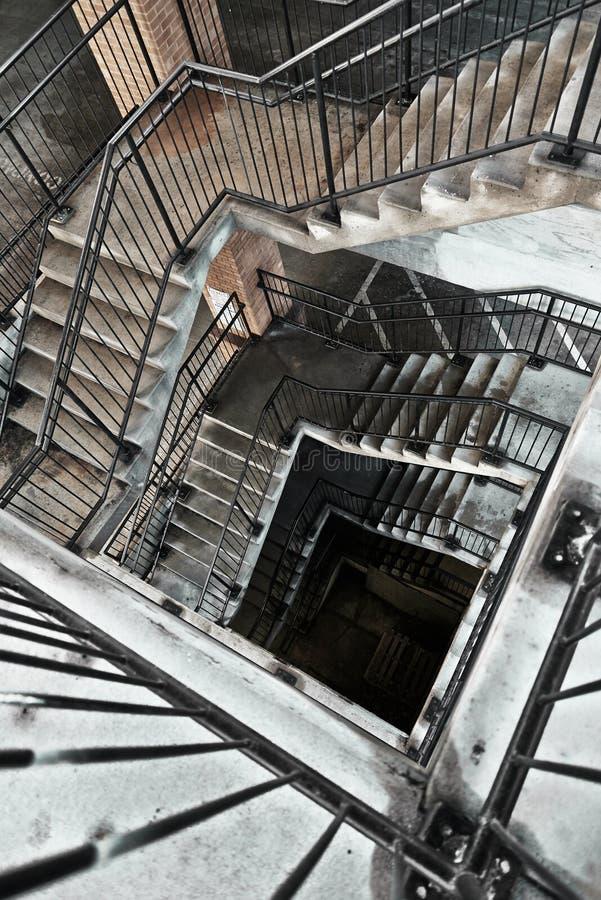 停车库楼梯间 免版税图库摄影