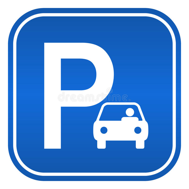 停车符号 向量例证