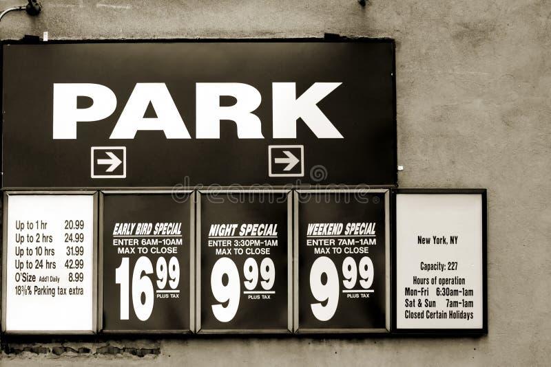停车费率 库存图片