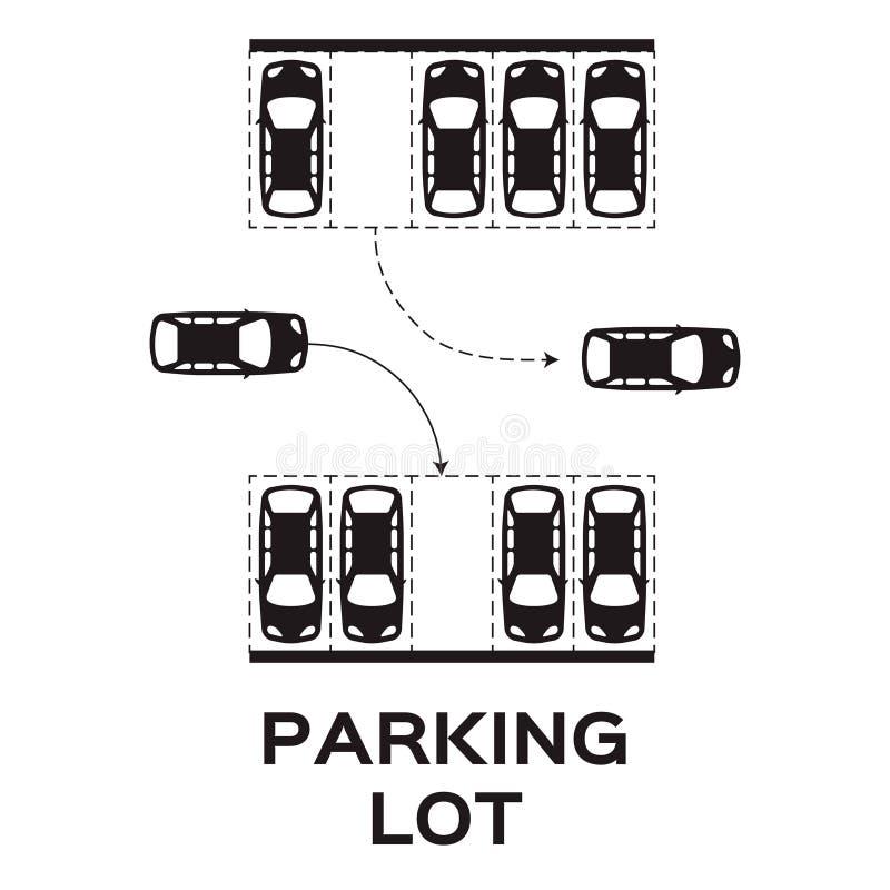 停车 向量例证