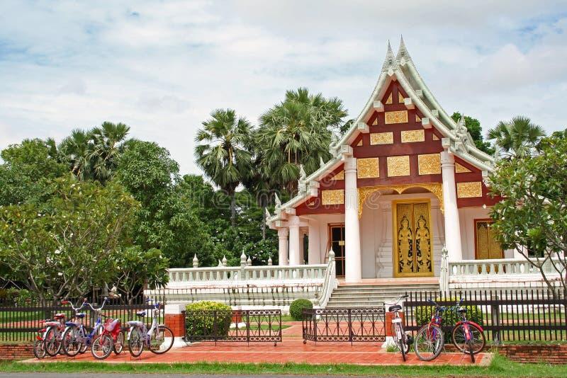 停车sukhothai寺庙泰国 库存照片