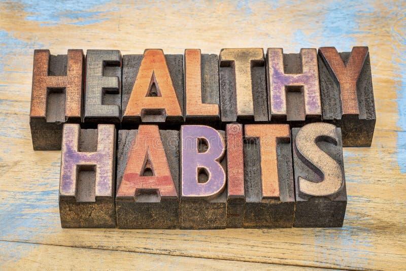 健康习性词摘要-生活方式概念 免版税库存图片